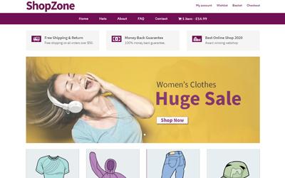 New eCommerce Shop Layout